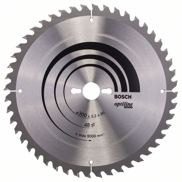 Sagblad for tre Bosch OPTILINE WOOD Ø300 mm