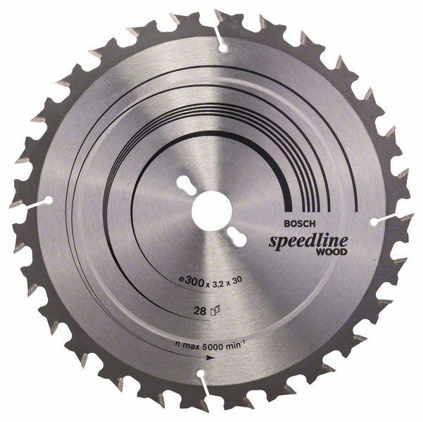 Sagblad for tre Bosch SPEEDLINE WOOD Ø300 mm