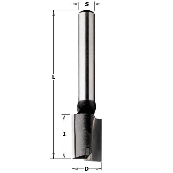 Straight router bit CMT S=8 mm D=7 mm