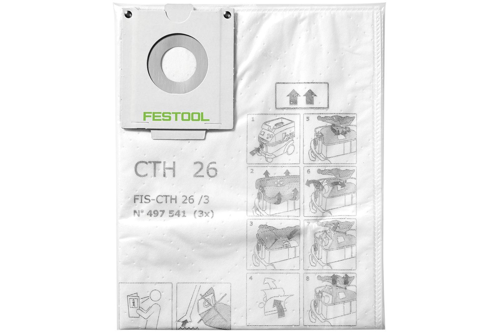 Tekstil støvposer Festool FIS-CTH 26/3 stk