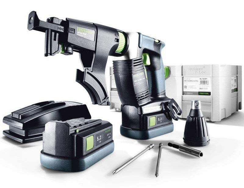 Skruautomat Festool DWC 18-4500 Li 5,2-Plus 18 V 2x5,2 Ah batt.