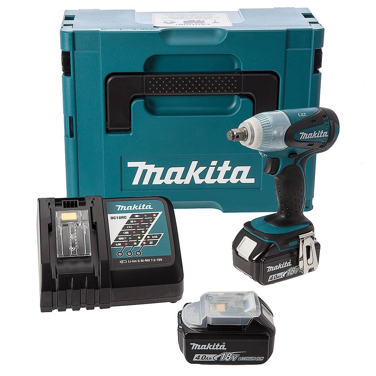 Slagmuttertrekker Makita DTW190RFJ 14,4 V 2x3,0 Ah batt.