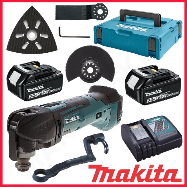 Flerfunksjonsverktøy Makita DTM51RFJX1 18 V 2x3,0 Ah batt. + tilbehør