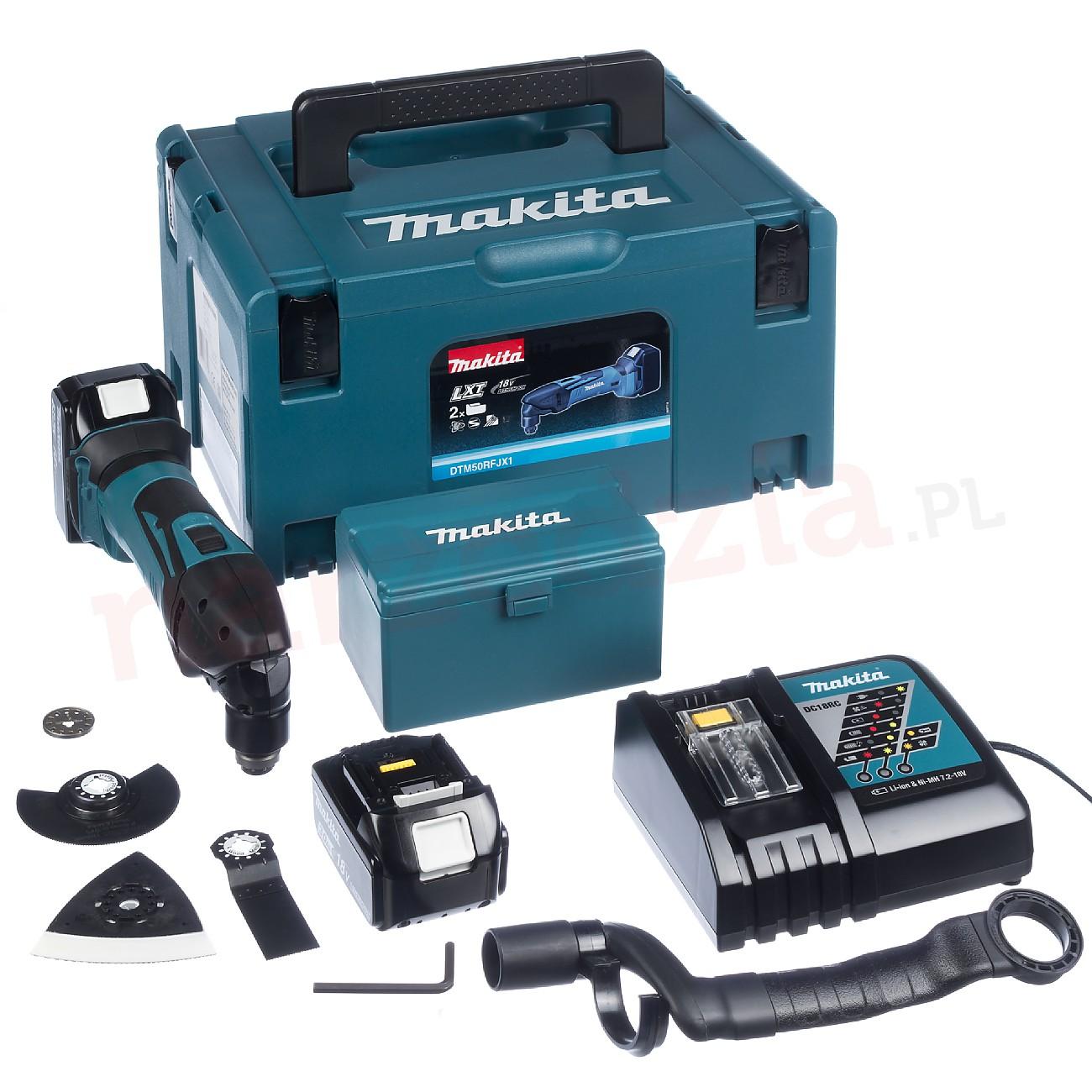 Flerfunksjonsverktøy Makita DTM50RFJX1 18 V 2x3,0 Ah batt. + tilbehør