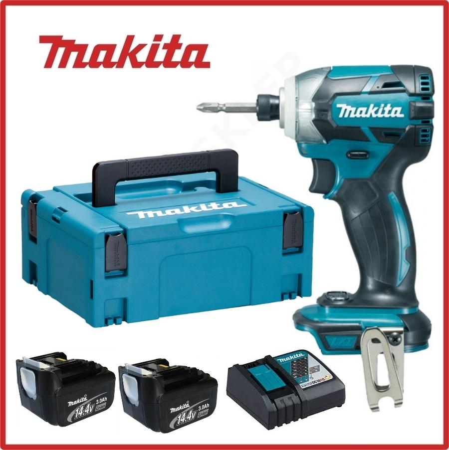 Slagskrutrekker Makita DTD137RFJ 14,4 V 2x3,0 Ah batt.