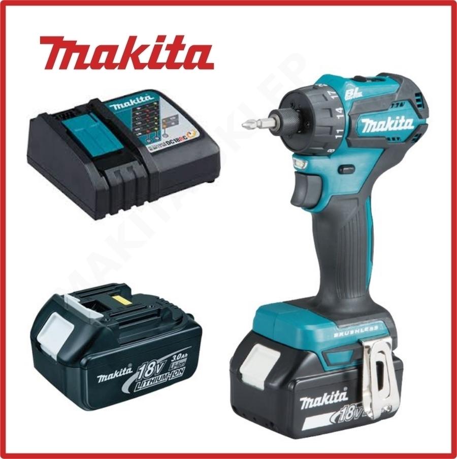 Skrutrekker/bor Makita DDF083RFE 18 V 2x3,0 Ah batt.