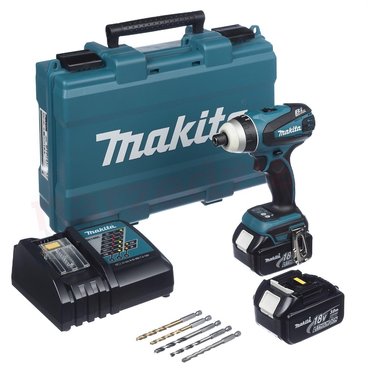 Slagskrutrekker Makita BTP141RFX2 18 V 2x3,0 Ah batt.
