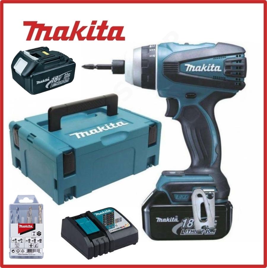 Slagskrutrekker Makita BTP141RFJX 18 V 2x3,0 Ah batt.