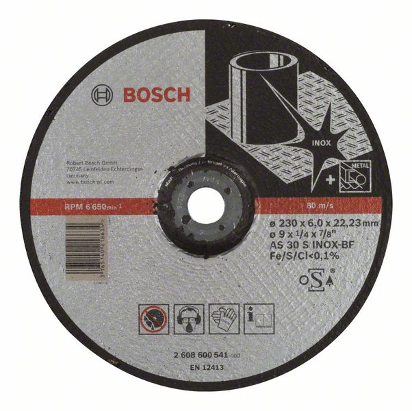 Slipeskive Bosch AS 30 S INOX BF 230x6 mm