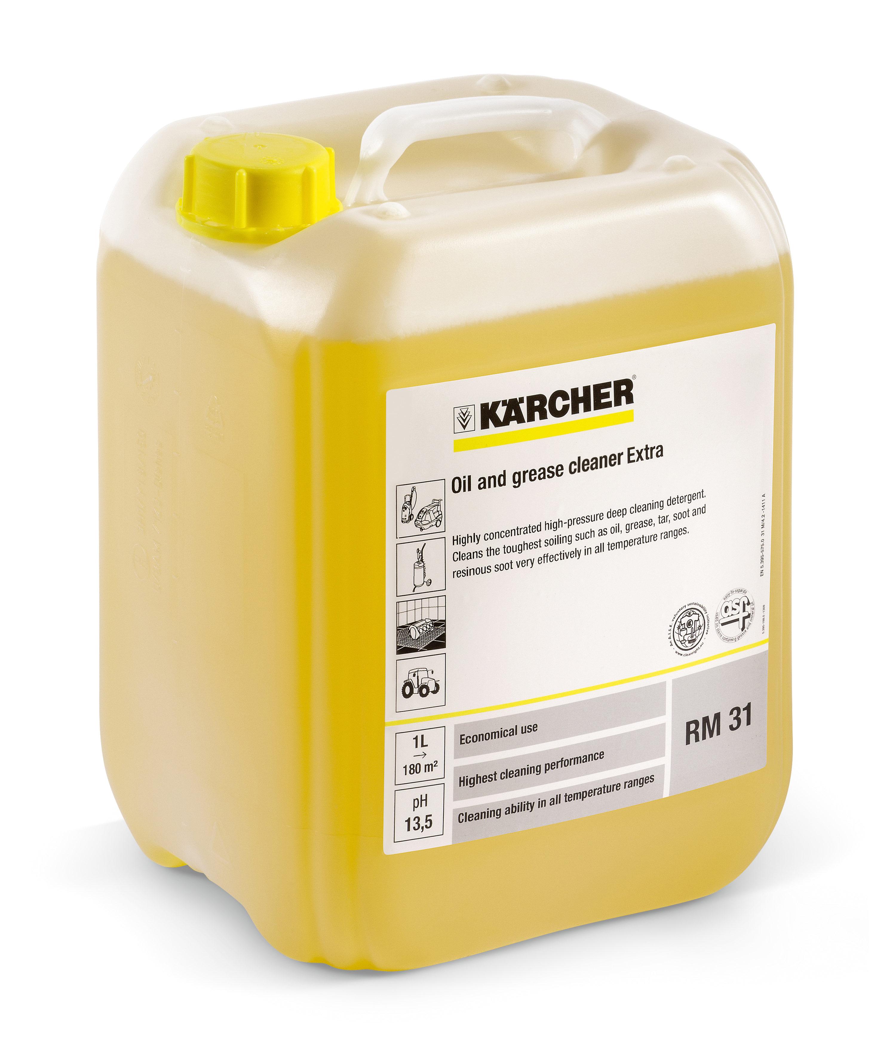 Rengjøringsmiddel med alkalisk konsentrat Kärcher RM 31 10 l