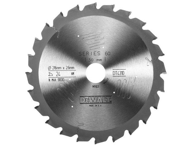 Sagblad for tre DeWalt DT4310 Ø216 mm
