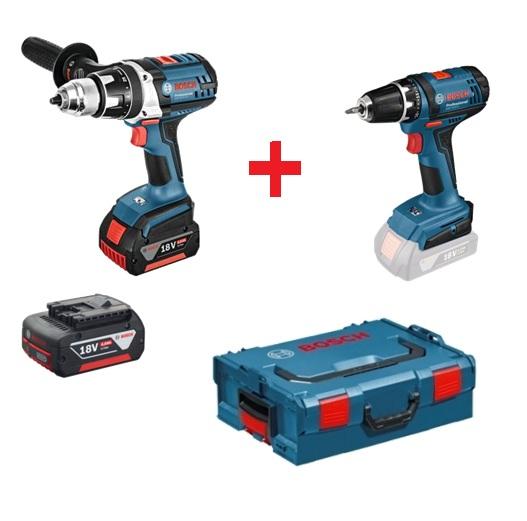 Slagskrutrekker / bor Bosch GSR 18 VE-2-Li + bor Bosch GSR 18-2-Li