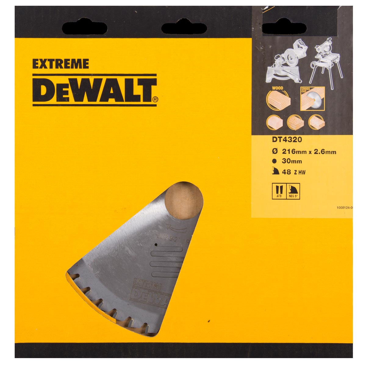 Sagblad for tre DeWalt DT4320 Ø216 mm