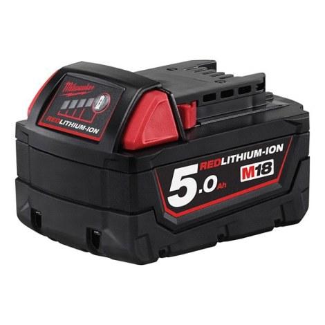Batteri Milwaukee M18 B5; 18 V; 5,0 Ah; Li-ion
