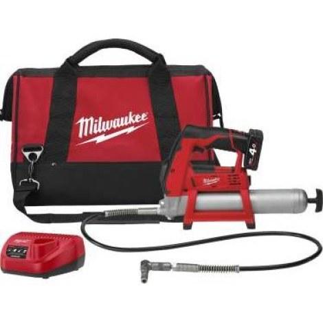 Milwaukee M12 GG 401B Smøresprøyte med 4,0Ah batteri og
