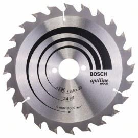 Sagblad for tre Bosch; OPTILINE WOOD; Ø190 mm