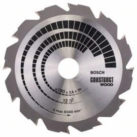 Sagblad for tre Bosch; CONSTRUCT WOOD; Ø190 mm
