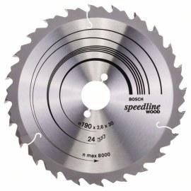 Sagblad for tre Bosch; SPEEDLINE WOOD; Ø190 mm