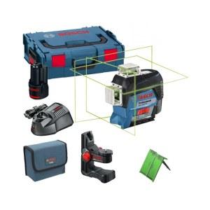Linjelaser Bosch GLL 3-80 CG + holder BM1 + koffert L-Boxx Lazer