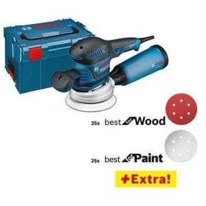 Eksentersliper Bosch GEX 125-150 AVE + 52 tilbehøre