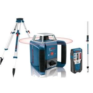 Linjelaser Bosch GRL 400 H + Mottaker LR1 + stativ BT 170 HD + linjal GR 240