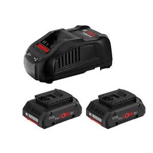 Batteri Bosch ProCORE18V; 18 V; 2x4,0 Ah batteri + lader