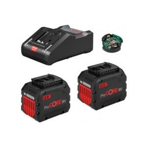 Tilbehørsett Bosch GBA ProCORE 18 V; 2x12,0 Ah batteri + lader GAL 18V-160C + modul GCY 42