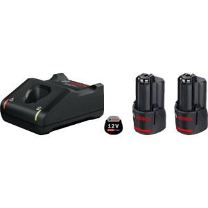 Tilbehørsett Bosch GBA; 12 V; 2x2,0 Ah + lader GAL 12V-40