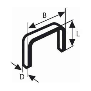 Klammer Bosch; 11,4x18 mm; 1000 stk; type 53; stål