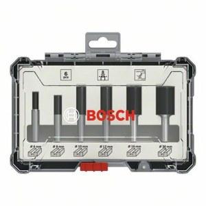 Freseborsett Bosch Straight; 8 mm; 6 deler