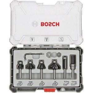 Freseborsett Bosch Trim&Edging; 8 mm; 6 deler