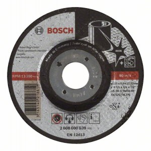 Slipeskive Bosch AS 30 S INOX BF; 115x6 mm