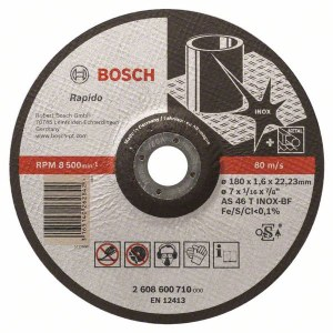 Abrasiv kappeskive Bosch AS 46 T INOX BF; 180x1,6 mm