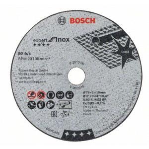Abrasiv kappeskive Bosch 2608601520; 76x1 mm; 5 stk