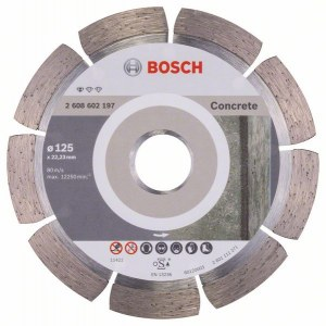 Diamantkappeskive Bosch PROFESSIONAL FOR CONCRETE; 125 mm