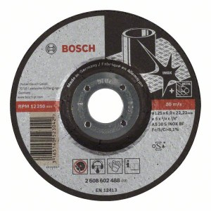Slipeskive Bosch AS 30 S INOX BF; 125x6 mm
