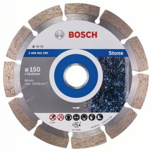 Diamantkappeskive Bosch PROFESSIONAL FOR STONE; 150 mm
