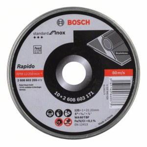 Abrasiv kappeskive Bosch Rapido 125x1 mm; 10 stk