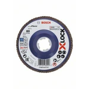 Lamellrondeller Bosch X-LOCK; Ø125 mm; P80