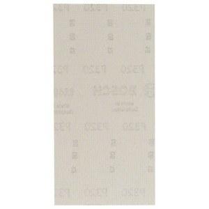 Nettmønstret slipepapir Bosch M480; 93x186 mm; P320; 10 stk