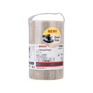 Nettmønstret slipepapir Bosch M480; 115x5000 mm; P180; 1 stk