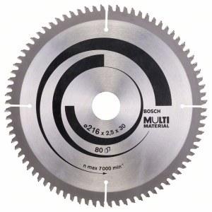 Universal sagblad Bosch MULTI MATERIAL; 216x2,5x30,0 mm; Z80; -5°