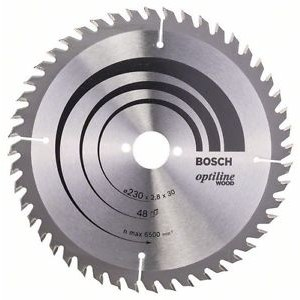 Sagblad for tre Bosch OPTILINE WOOD; 230x2,8x30,0 mm; Z48; 15°