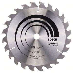 Sagblad for tre Bosch OPTILINE WOOD; 184x2,6x16,0 mm; Z24; 15°