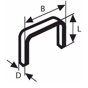 Klammer Bosch; 11,4x4 mm; 1000 stk; type 53; stål