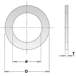 Reduksjonsring CMT 299.242.00; 1,4x16,0x22,2 mm