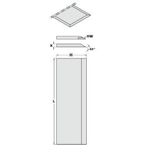 Høvel kniver CMT 792.200.30; 200x30x3 mm; HS; 2 stk