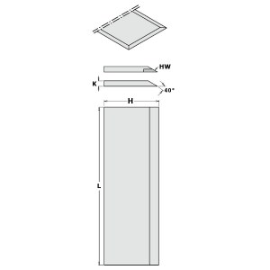 Høvel kniver CMT 792.251.30; 250x30x3 mm; SP; 2 stk
