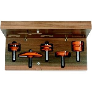 Freseborsett CMT for kitchen; 12 mm; profile B; 5 deler