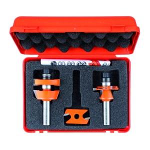 Freseborsett CMT adjustable shaker; 12 mm; 3 deler